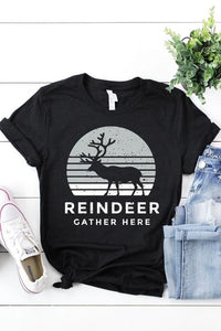 PREORDER: Reindeer Gather Here Graphic Tee