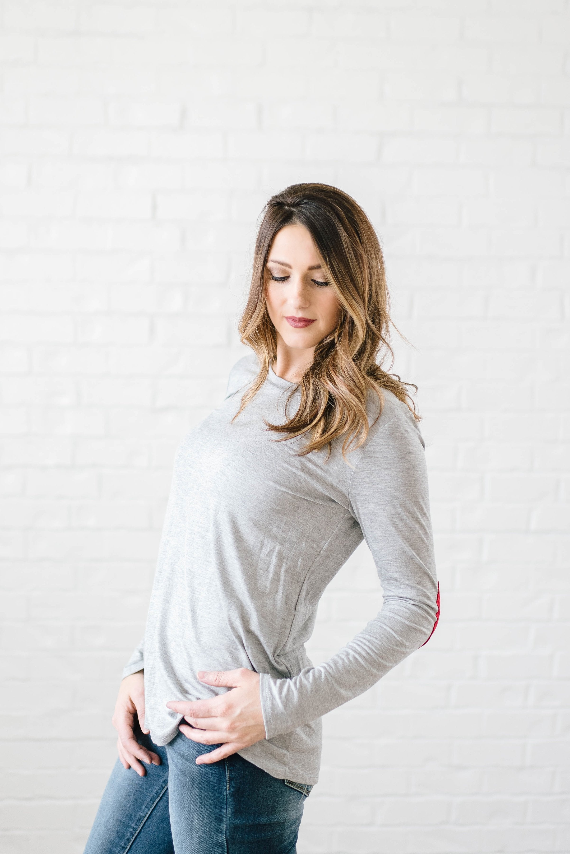 Be Mine Top in Gray