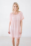 Belmar Beach Cover Up In Blush - Warehouse Sale
