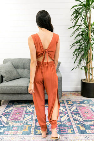Exotic Bali Jumpsuit In Cayenne