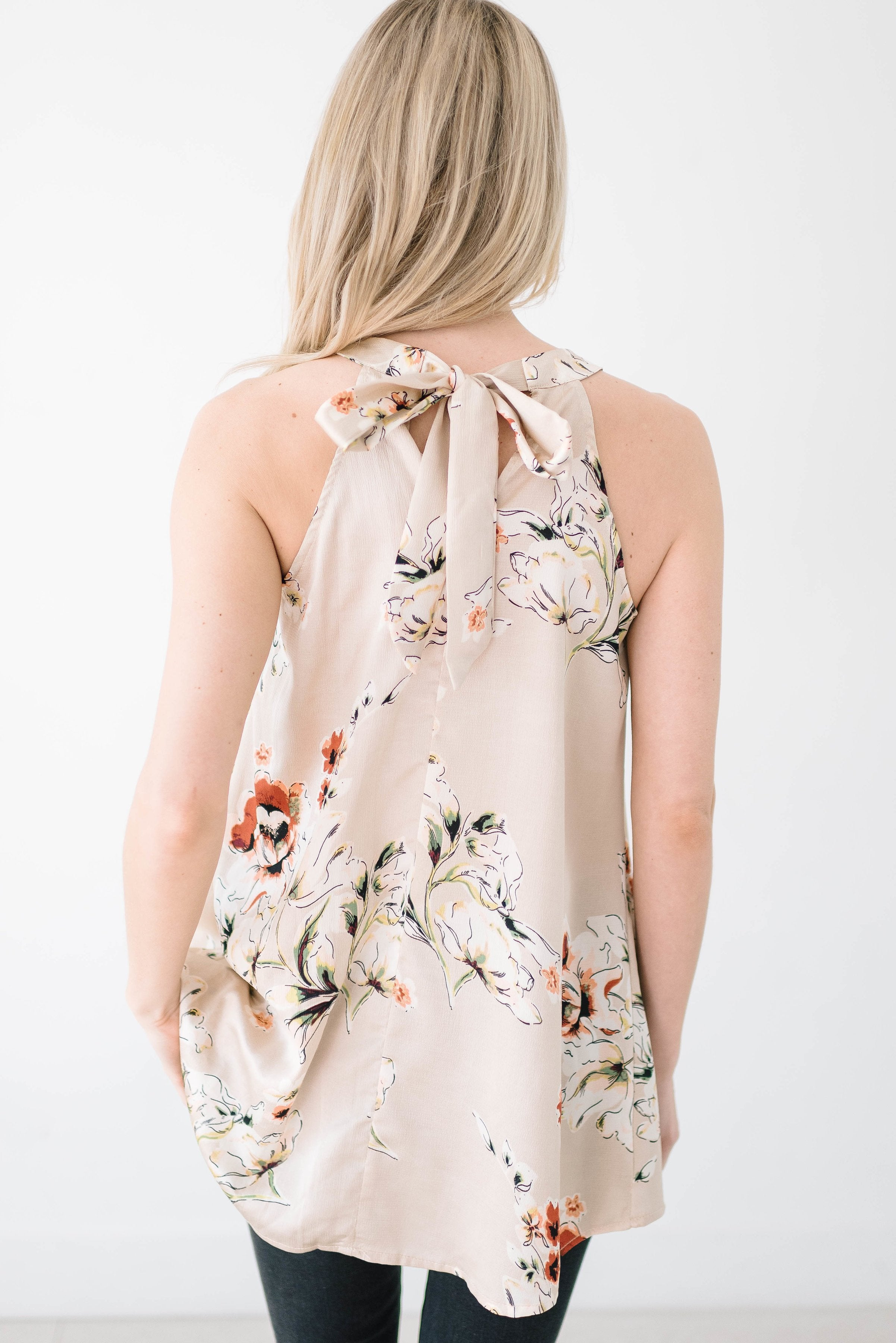 Full Bloom Floral Halter