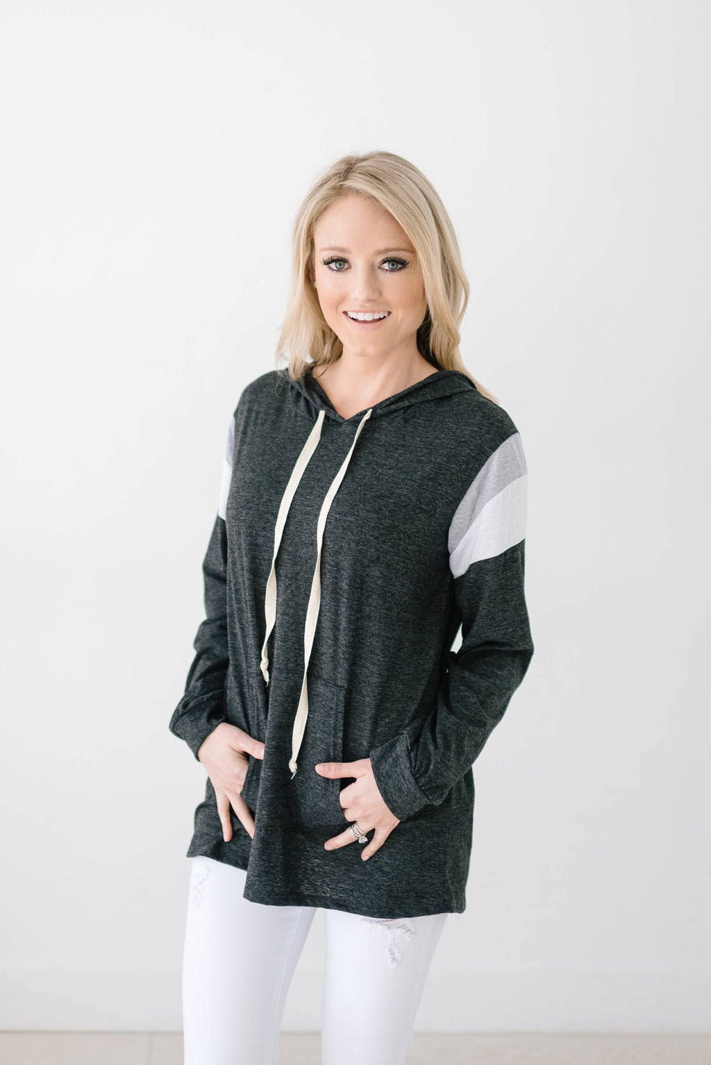 Heather Hoodie in Charcoal