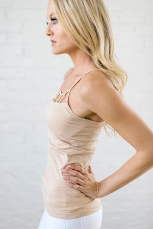 Lattice Tank In Nude - Warehouse Sale