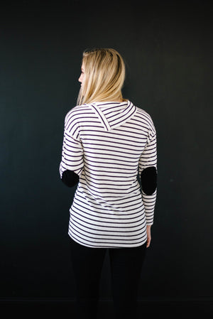 The Belinda Black & White Stripe