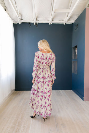 Lavender Rose Maxi Dress