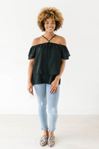 Belfair Shoulders Top In Black