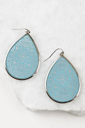 Blue Moroccan Cut Earrings