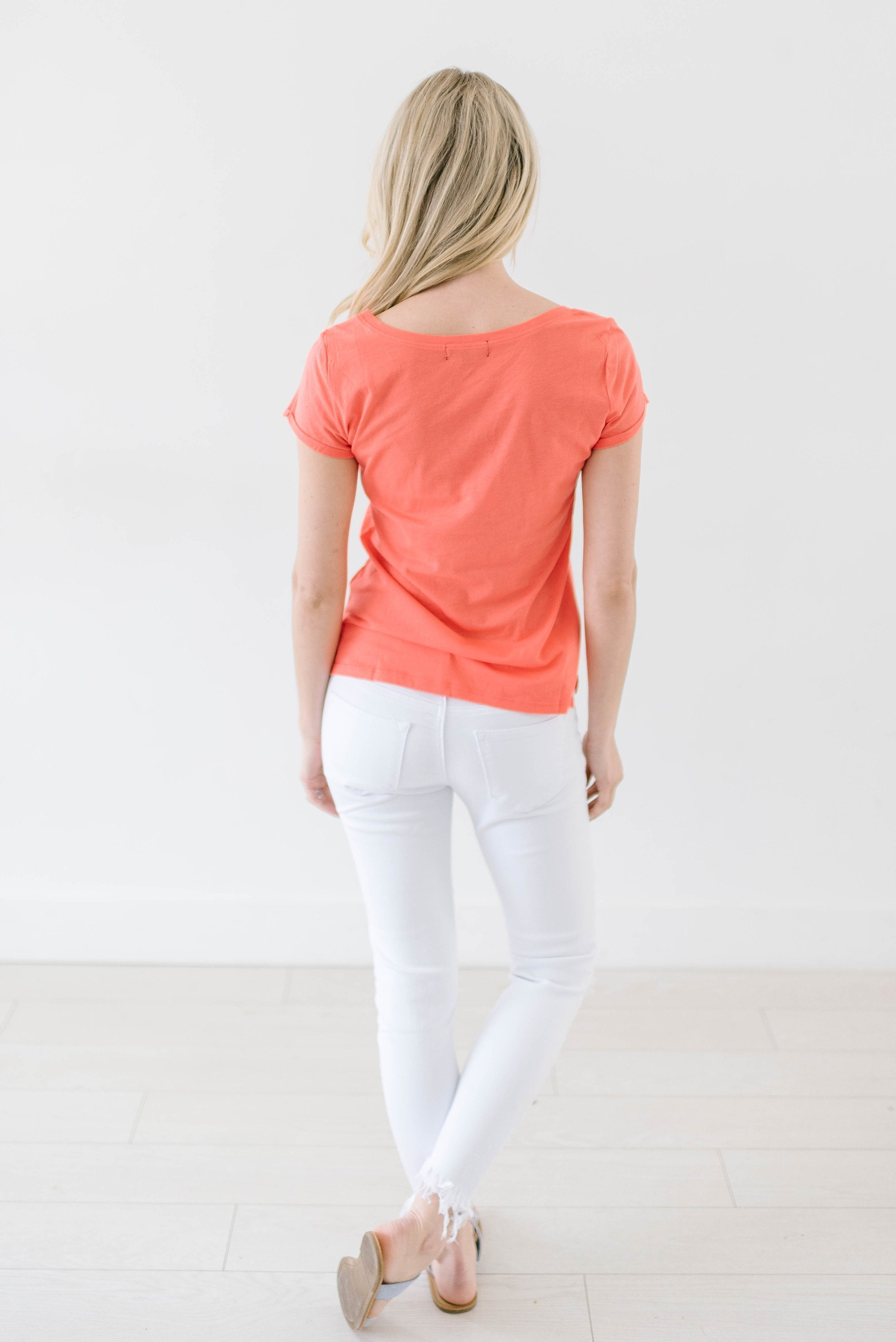 Cassie Coral Tee