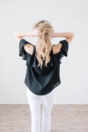 Date Night Top In Black