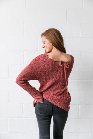 Double Cross Cable Knit Sweater