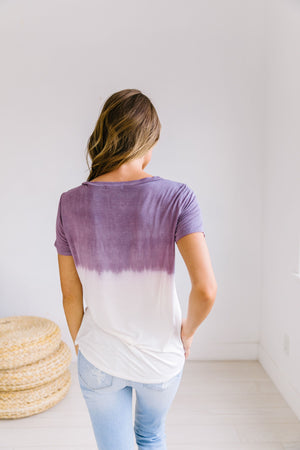 Ombre Dip Dye Tee In Purple