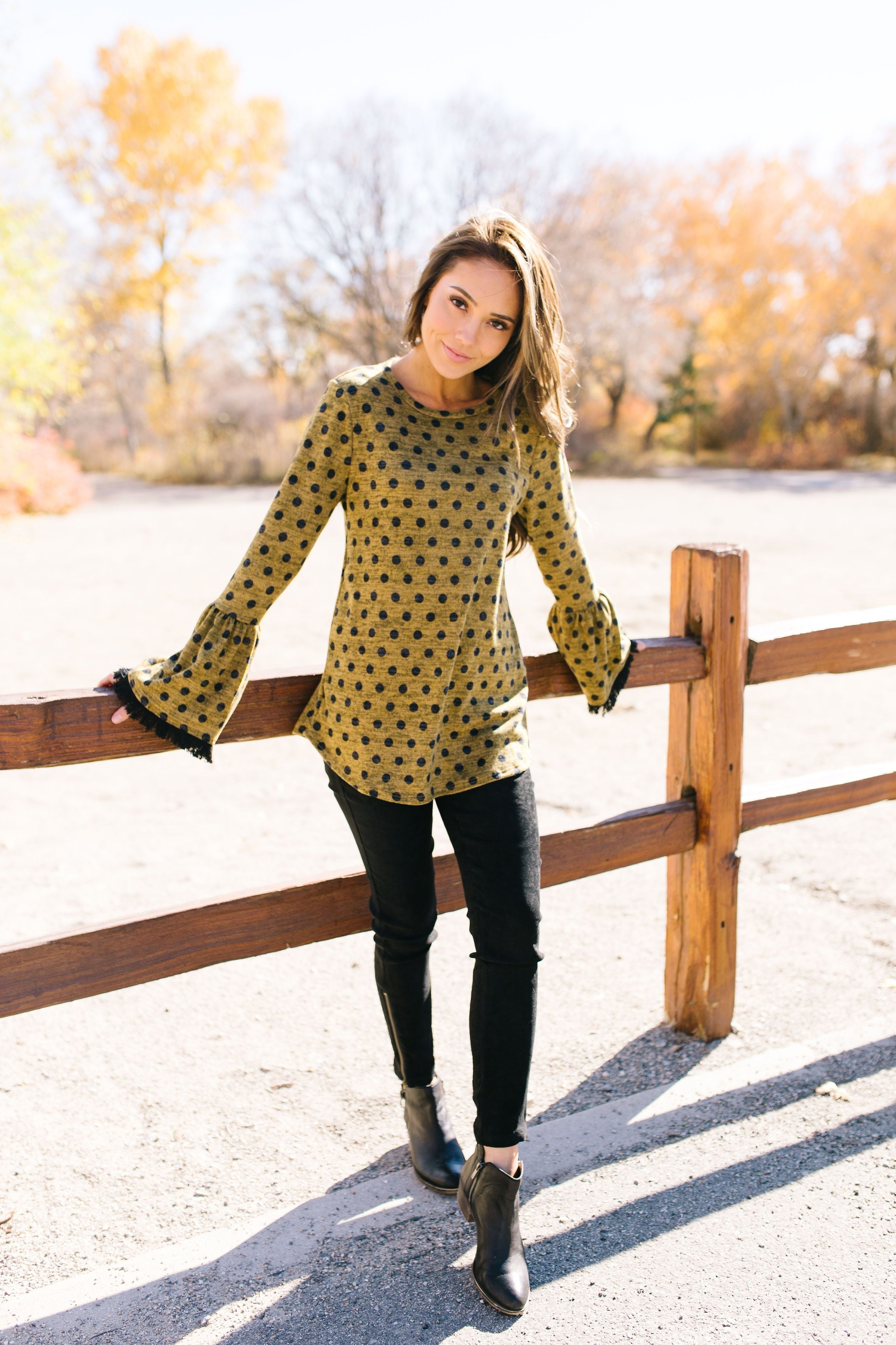 Prim And Proper Polka Dot Blouse - ALL SALES FINAL