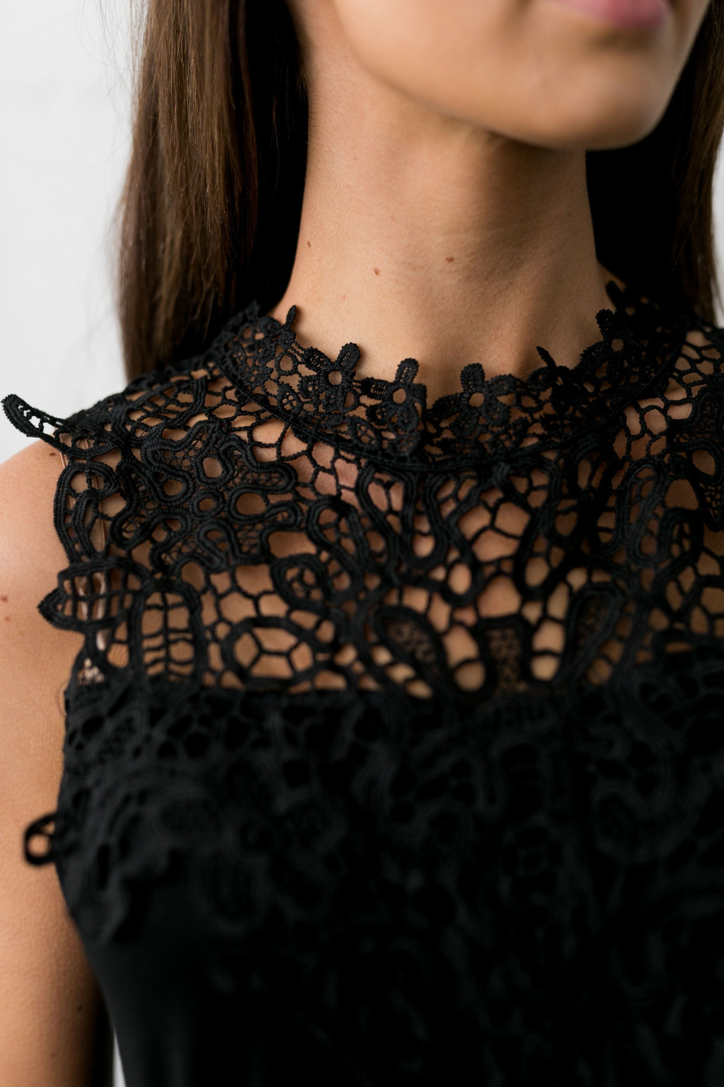 Sophisticated Lace Sleeveless Top - ALL SALES FINAL