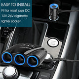 1 to 3 Car Port Charger w/ 3 USB Ports