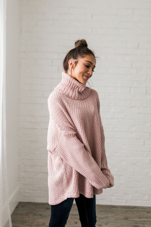Chunky Cowl Neck Sweater - ALL SALES FINAL