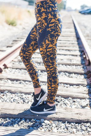 Dauntless Damask Athletic Leggings - ALL SALES FINAL