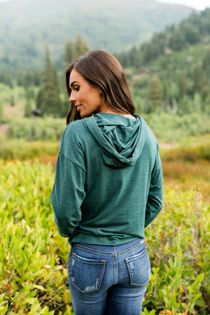 Huntress Hoodie in Forest Green