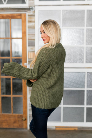 Mock Neck Two Toned Sweater