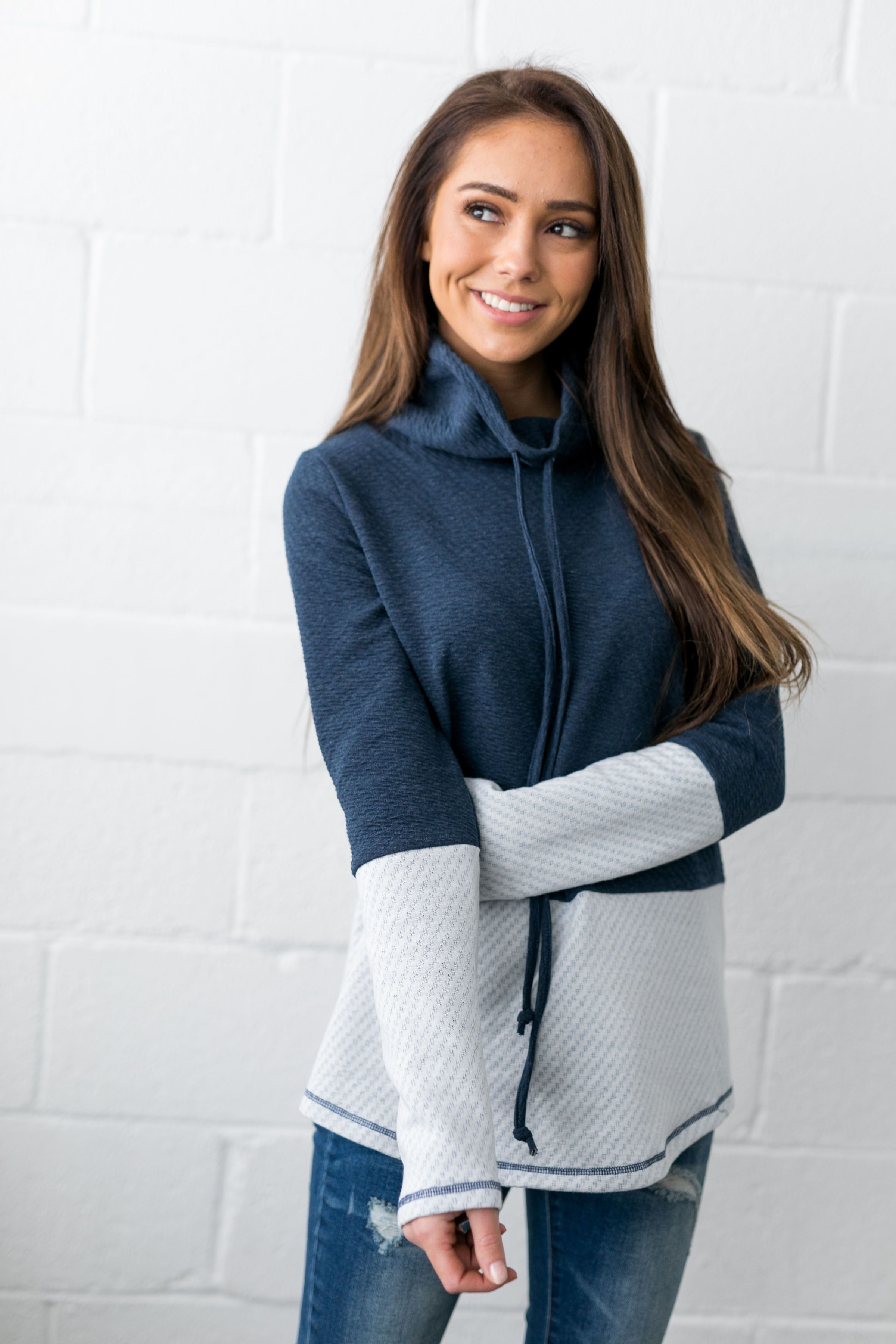 Night And Day Cowl Neck Top- ALL SALES FINAL - ALL SALES FINAL