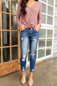 Weekend Warrior Distressed Ankle Skinny Jeans