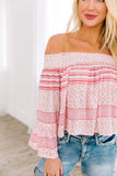 Striped Delight Off Shoulder Blouse