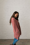 Faded Memories Chenille Cardigan In Mauve