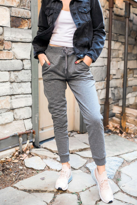 Lounge Around Town Joggers In Charcoal