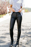 Rock Bottom Waxy Jeans In Black - ALL SALES FINAL