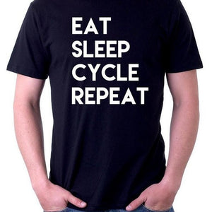 Eat Sleep Cycle Repeat Mens T shirt
