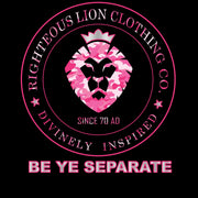 Women's Black Righteous Lion Logo Tee