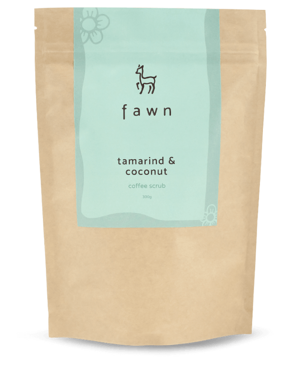 tamarind & coconut coffee scrub