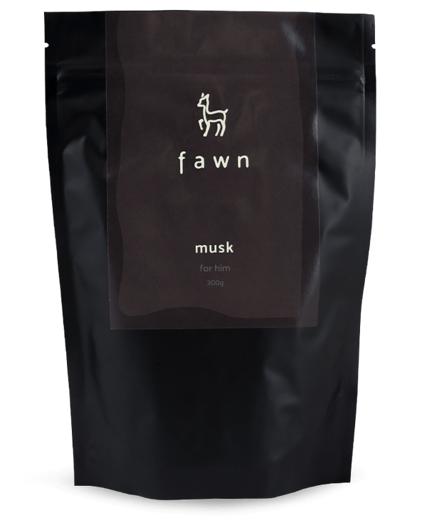 musk coffee scrub