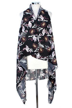 Load image into Gallery viewer, Draped Flamingo Printed Vest