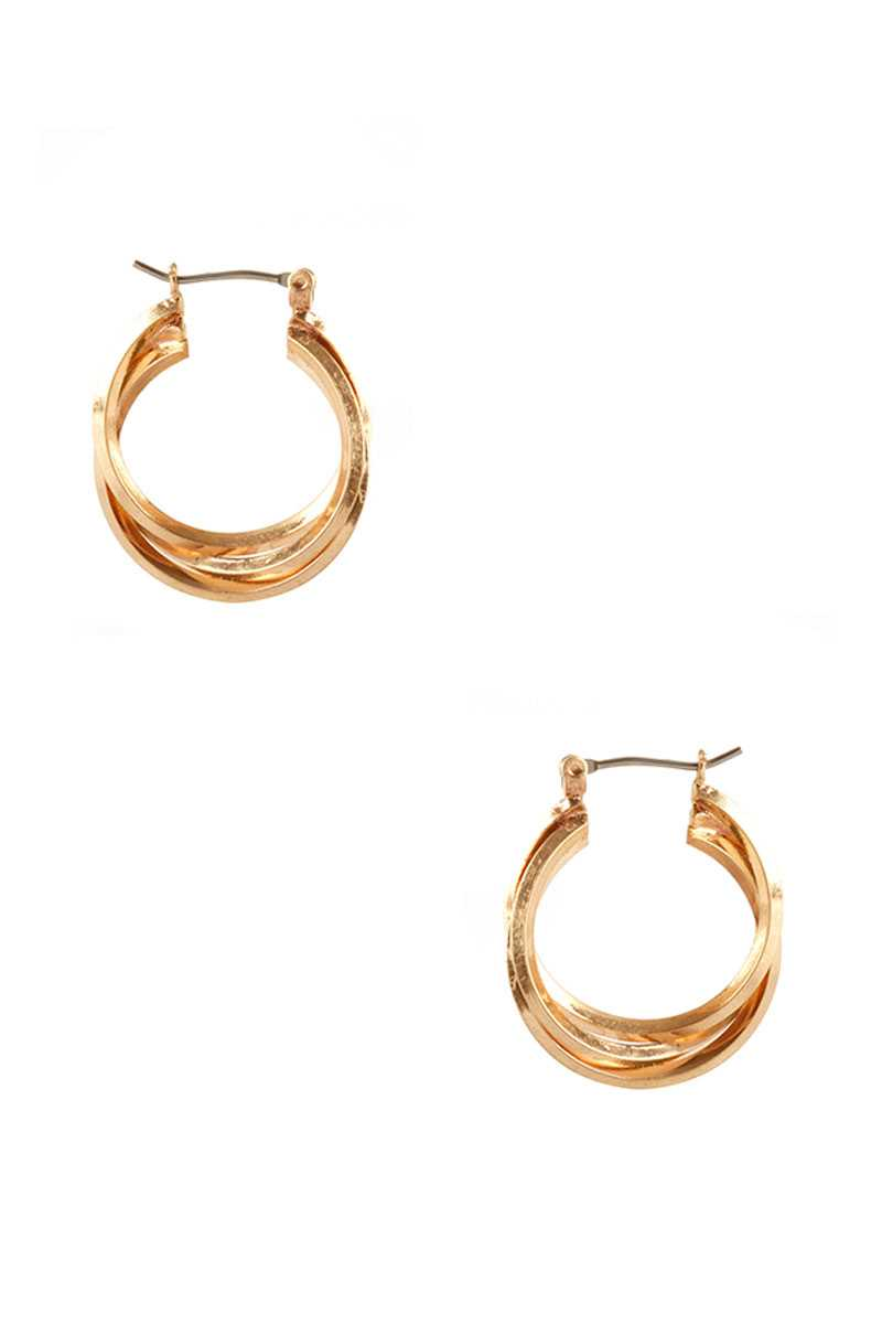 Metal Twist Ring Hoop Earring