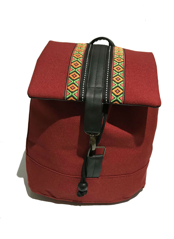 Red Ribbon front Backpack