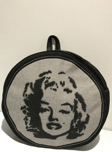 Round Hand-painted ' Marilyn' backpack