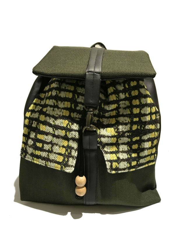 Green Print Backpack