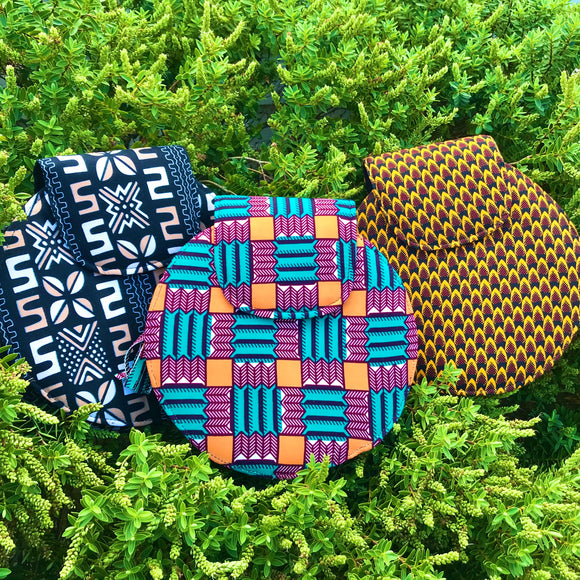 Round  Ankara shoulder bag (medium)