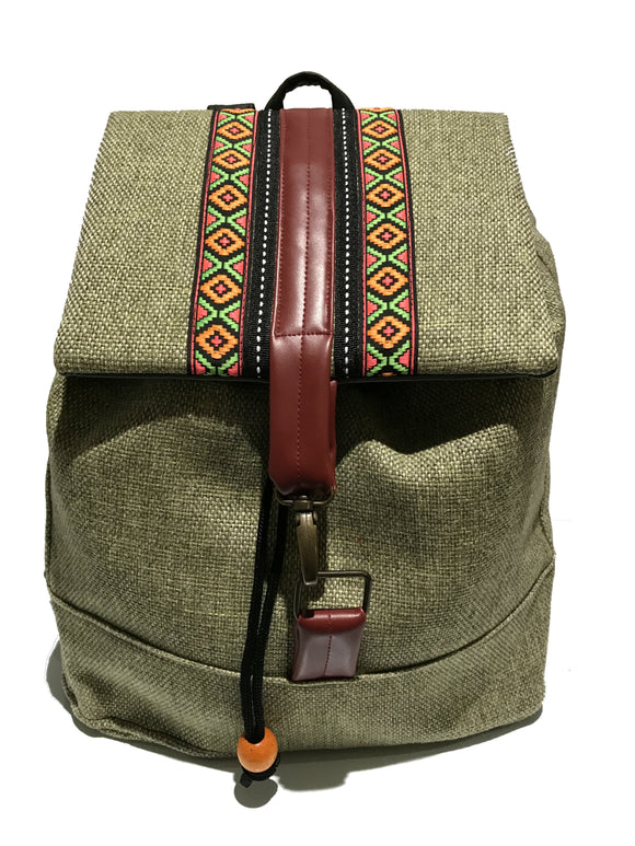 Light Green Ribbon Front Backpack
