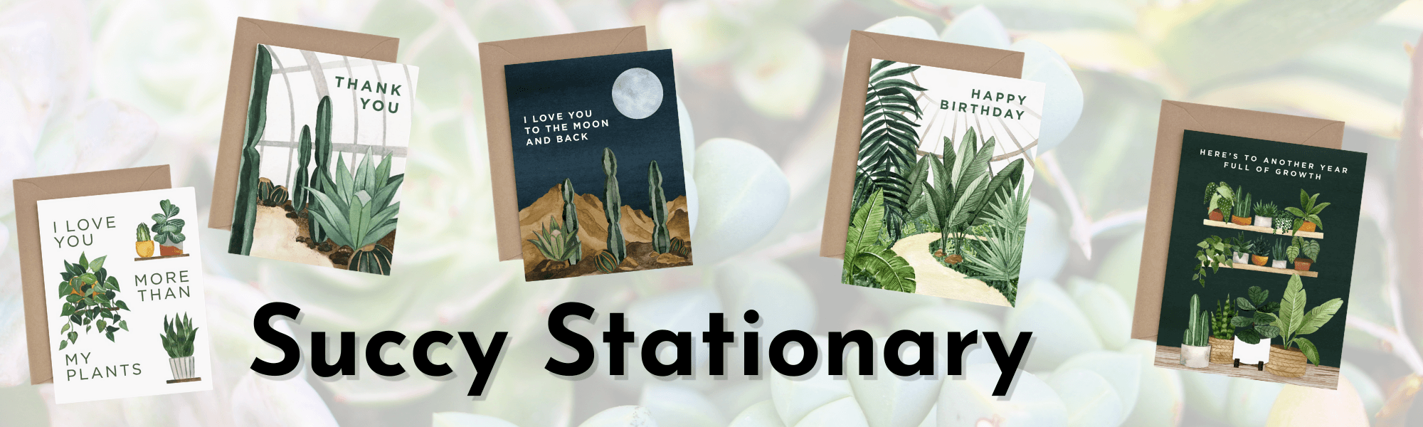Succulent Stationary For Sale