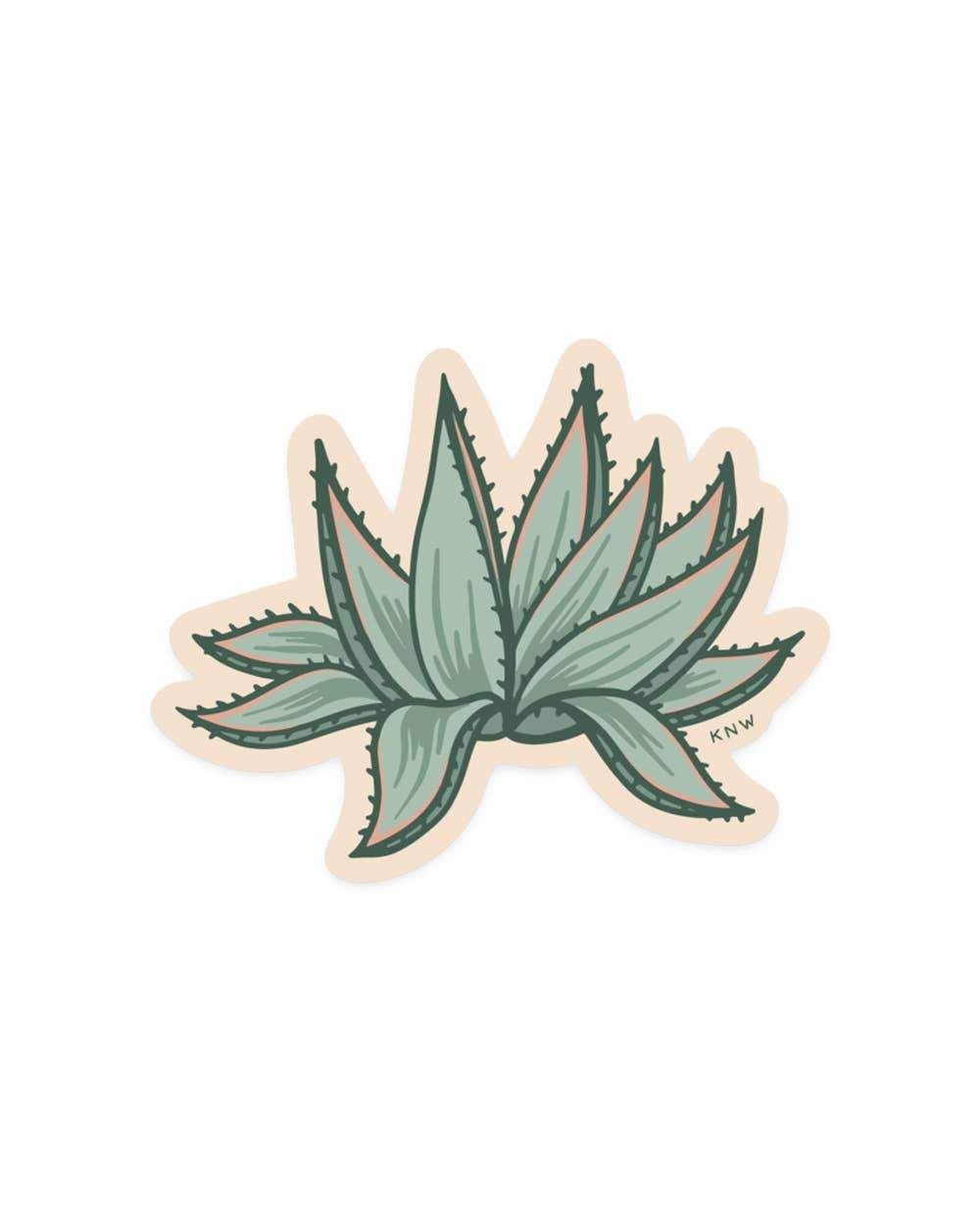 Agave - Sticker - for sale by Succy Crafts