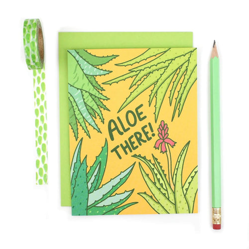 Aloe There Note Card - for sale by Succy Crafts