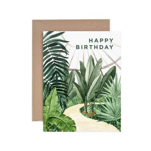 Conservatory Happy Birthday Greeting Card - for sale by Succy Crafts