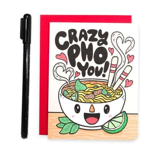 Crazy Pho You Valentine's Day Card - for sale by Succy Crafts