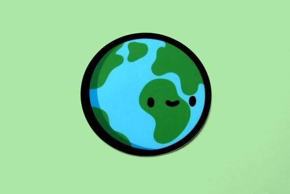 Earth Vinyl Sticker - for sale by Succy Crafts