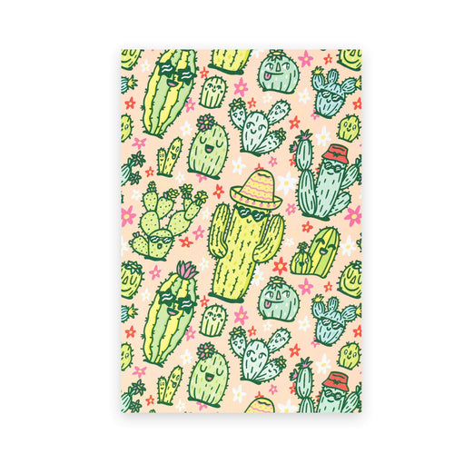 Happy Cactus Postcard - for sale by Succy Crafts
