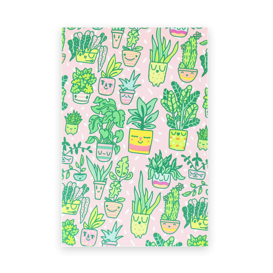 Happy Planters Postcard - for sale by Succy Crafts