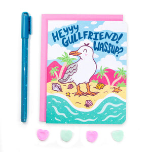 Hey Gullfriend Seagull Friendship Card - for sale by Succy Crafts