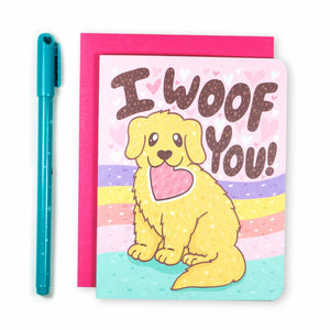 I Woof You Puppy Love Card - for sale by Succy Crafts