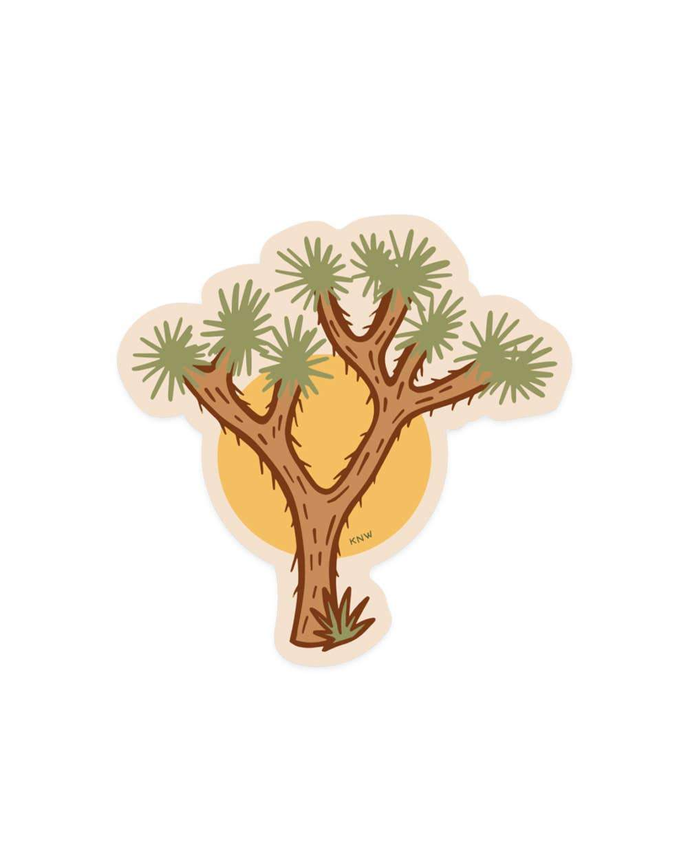 Joshua Tree - Sticker - for sale by Succy Crafts